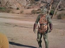 The Gorn capitain somewhere in the California desert
